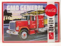 GMC General Semi Tractor 1976 Coca Cola Kunststoffbausatz Modellauto 1:25 AMT