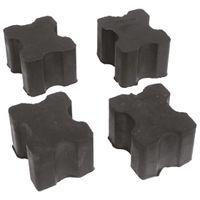 Carpoint Federwegbegrenzer 38 x 30 mm schwarz 4 Stück