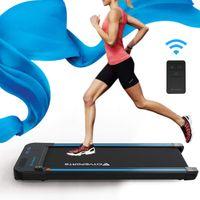 CITYSPORTS Laufband mit elektrischem Motor klappbar, 440W Motor, einstellbare Geschwindigkeit, LCD-Bildschirm Kalorienzähler, klappbares Laufband Bluetooth-Lautsprecher für Heim und Büro