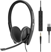 Sennheiser SC 165 - SC 100 series - Headset - On-Ear - kabelgebunden - aktive Rauschunterdrückung - USB, 3,5 mm Stecker - Schwarz