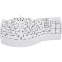 Perixx PERIBOARD-512 DE, Ergonomische USB-Tastatur, weiß