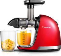 Slow Juicer Entsafter, Entsafter Edelstahl, Saftpresse Elektrisch, BPA-Frei Fruchtpresse Entsafter