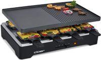 Cloer 6446 Raclettegrill 8 Raclettepfännchen