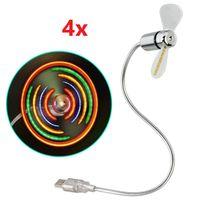 4x Hama USB Ventilator mit bunten LEDs Laptop/ Notebook Zubehör flexibel USB