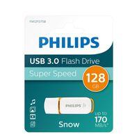 Philips USB-Stick 128GB Snow, USB 3.0, Farbe: Orange