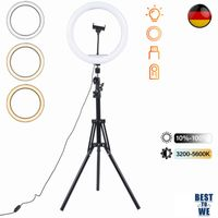 160cm Stativ 10 Zoll Dimmbare LED Ringlicht Fotostudio Selfie Lampe & Ständer für Makeup Kamera
