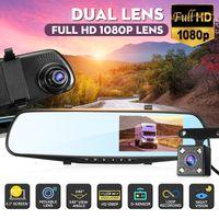 """4.3"""" 1080P Dashcam Auto Dual Lens DVR Video Rückfahrkamera Rückspiegel Monitor"""
