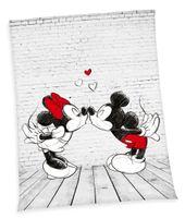 Disney´s Mickey + Minnie Mouse Flauschdecke Kuscheldecke 150 x 200 cm