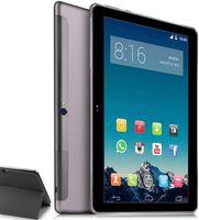TOSCIDO Tablets 10 Zoll mit Hülle, Android 10.0, 128GB ROM, 4GB RAM, Octa Core 2 GHz prozessor, 1920*1200 HD IPS, 4G Dual SIM, WiFi, GPS, X108, Farbe: Grau