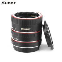 SHOOT XT-364 Autofokus-AF-Makro Verlängerungsrohradapter-Ringsatz 13mm 21m 31mm für Canon EF / EF-S-Objektiv für Canon EOS 550D / 600D / 650D / 700D / 750D / 760D / 800D / 200D / 13D / 60D / 70D / 80D / 7D / 7D-II / 5D-II / 5D-III / 5D-IV / 6D / 6D-II-DSLR-Kameras