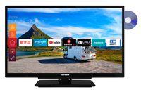Telefunken XF22G501VD 55 cm (22 Zoll) Fernseher (Full HD, Triple Tuner, Smart TV, Prime Video, DVD-Player integriert, 12 V, Works with Alexa)
