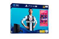 Sony PlayStation 4 Pro, 1TB + FIFA 19, Schwarz, 8192 MB, GDDR5, AMD Jaguar, AMD Radeon