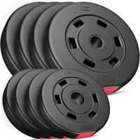 Hop-Sport 30kg Hantelscheiben 30 mm - Gewichte Hantel Sets 4x2,5kg+4x5kg