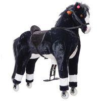 Pink Papaya XXL Reitpferd auf Rollen Paco, 90 cm Spielpferd mit zwei Sounds