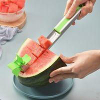 Wassermelonenschneider Messerzangen Corer Obst Melone Edelstahl Gesc D5W4
