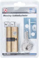 KRAFTMANN 8093 Messing-Schließzylinder, 70 mm