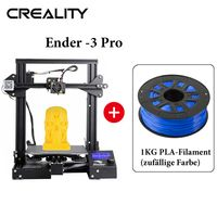 Creality 3D Ender-3 pro 220 * 220 * 250mm Druckgröße + 1KG PLA-Filament (zufällige Farbe)