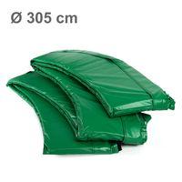 Ampel 24 Trampolin Randabdeckung, passend für Trampolin Ø 305 cm, Federabdeckung reißfest und UV-beständig, Schutzrand grün