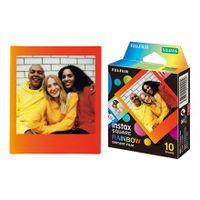 """Fujifilm Instax Square Rainbow (10) Instant Film Menge 10, 72 x 86 mm, 2,4 x 2,4"""" Bildfläche; 3,4 x 2,8"""" Druckgröße, zur Verwendung mit instax SQUARE Kameras"""