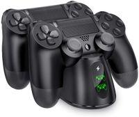 PS4 Controller Ladestation,  Dual Dualshock 4 Ladegerät Charger, Doppeltes Schnellladegerät mit LED-Anzeige für Playstation 4 / PS4 Slim/PS 4 Pro Wireless Controller Gamepad