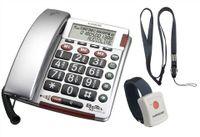 Audioline Bigtel 50 Alarm PLUS Telefon, Rufnummernanzeige, Freisprechfunktion