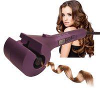 Automatische Lockenwickler Heizung Haarpflege Styling Werkzeuge CONAIR Curl Geheimnis Keramik Lockenstab Bar Salon Rotierenden Styling Curl (Violett)