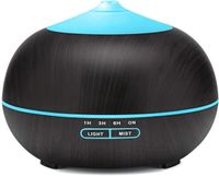 Aroma Diffuser, Tenswall Ultraschall Luftbefeuchter Aromatherapie Ätherische Öle Luftbefeuchter mit 7 Farben LED Lichter, 550ml