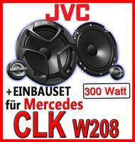 Mercedes CLK W208 - 16,5cm 2-Wege Lautsprecher vorne - JVC CS-JS600 - Einbauset