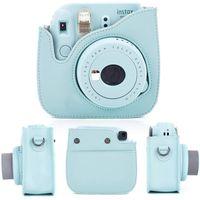 Polaroid Kamera mini9 8 + 8 Zubehör 10 in 1 Set Kameratasche Fotoalbum Selfie Spiegelfilter eisblau, Keine Kamera