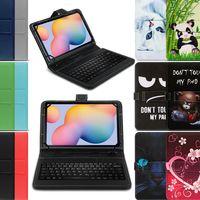 Tablet Hülle Tastatur Tasche Samsung Galaxy Tab A7 10.4 2020 Schutzhülle QWERTZ , Farben:Schwarz