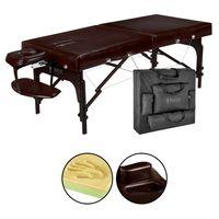 Master Massage 71cm Supreme™ Mobile Massageliege Paket mit Memory Foam & Face Port Klappbares Holzgestell-Dunkelbraun