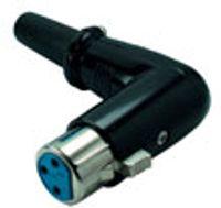Cannon / XLR-Buchse, gewinkelt, schwarz, Good Connections®
