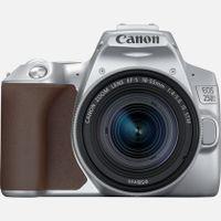 Canon EOS 250D + EF-S 18-55mm f/4-5.6 IS STM, 24,1 MP, 6000 x 4000 Pixel, CMOS, 4K Ultra HD, Touchscreen, Silber