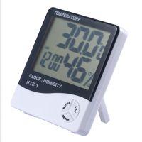Digitales Feuchtigkeitsmesser-Thermometer Innen-LCD-Hygrometer-Temperaturwecker
