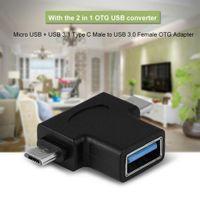 2-in-1 Micro USB 3.0 & 3.0 Typ C OTG Adapter, USB-C Stecker Micro USB Stecker auf USB-A 3.0 Buchse Konverter