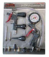 Mauk 13tlg Reifenfüller Druckluft Set mit Manometer und 8tlg. Adapaterset