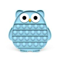 Eule Push Pop Pop Bubble Sensorisches Zappeln Den Druck Besondere Bedürfnisse Stille Antistress Toy Antistress Relief(Blau)
