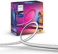Philips Hue Play Gradient Lightstrip LED Smart Strip, 20 W, weißes Licht & Farben, 75 Zoll
