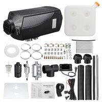 8KW 12 V Diesel Luftheizung Fernbedienung Standheizung + Schalldämpfer + LCD Schalter + Fernbedienung + 15L Tank für Auto Lkw Boot Van Bus