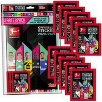 Topps Bundesliga Sammelsticker 2020/21 - 1 Album inkl. 48 Sticker + 10 Tüten