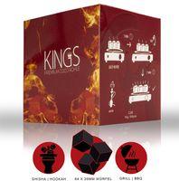 KINGS Shisha Kohle |64 Würfel | Größe 26er Cubes | Premium Kokosnuss Naturkohle bis zu 120 Minuten Brenndauer 1KG