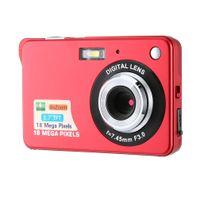 Digitalkamera für Kinder, Weihnachtsgeschenk, Kompakte Digitale Videokamera 18 Megapixel Wiederaufladbare Kamera Digital mit 2.7 Zoll 1280×720 HD LCD Bildschirm für Studenten/Senioren/Kinder (Rot)
