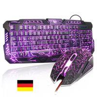 Beleuchtete GAMER Tastatur Set, Maus USB GAMER Tastatur mit Maus 2,4 GHz Set USB MFTEK Tastatur und Maus Set, Tastaturen, Maus und Tastatur Set ⭐⭐⭐⭐⭐ 1A QUALITÄT