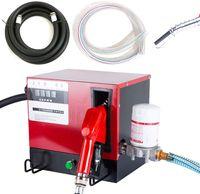 550W Dieselpumpe Kraftstoffpumpe Selbstansaugend Heizölpumpe Abschaltautomatik Heizöl Pistole 2 Schlauchen 60 L/min