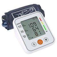 Digital Blutdruckmessgerät Oberarm LCD Blutdruck Monitor Pulsmesser BP Manschett