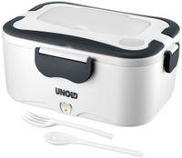 UNOLD 58850 Lunchbox zum Erwärmen von Speisen für unterwegs Weiß/Grau