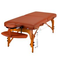Master Massage 71cm Santana™ Mobile Massageliege Paket Memory Foam & Klappbarem Holzgestell-Zimt