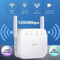 Wireless WiFi Repeater WLAN Verstärker mit Blitzschutz 1200Mbps WiFi booster