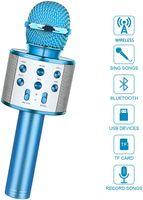 Drahtloses Bluetooth Karaoke Mikrofon Tragbares Handmikrofon für Kinder - Lustige Geschenk für Teenager Mädchen Jungen