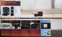 Philips EP2220/10 Kaffeevollautomat 2200 Serie, Panarello, Schwarz